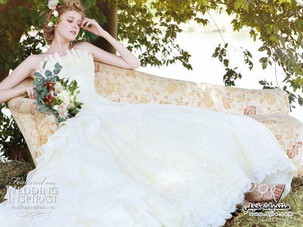 فساتين زفاف وخطوبة 2014