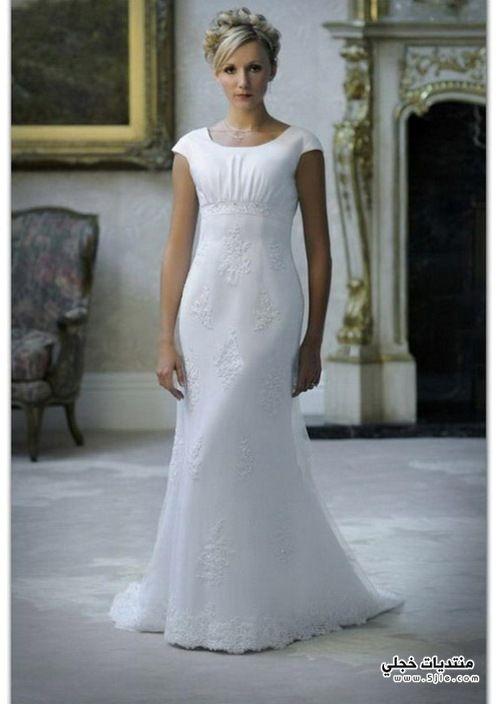فساتين زفاف شيفون 2014
