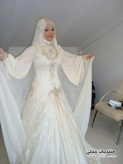 فساتين زفاف طويل 2014