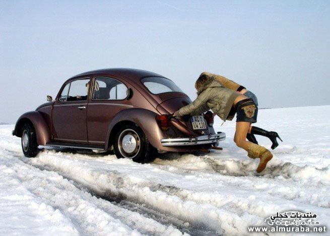 سيارات لاتتحمل البرد الشتاء