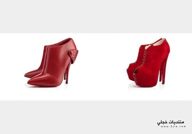 احذية باللون الاحمر 2014 احذية