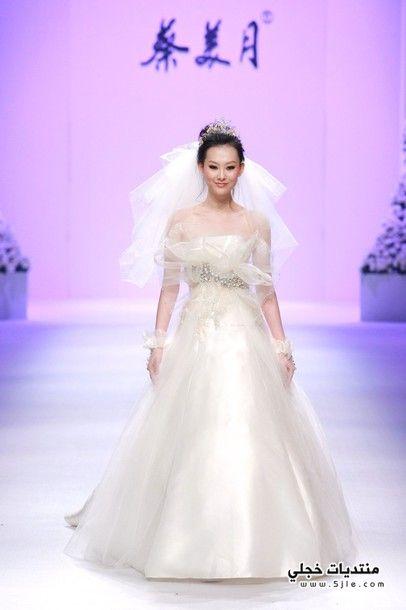فساتين زفاف صينية 2014