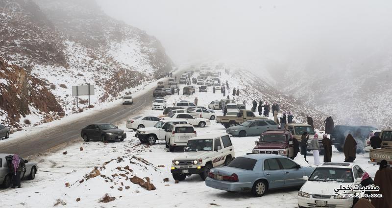 الثلوج جبال تبوك 1435 الثلوج