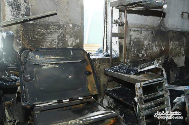 حريق مستشفى جازان اخبار حريق