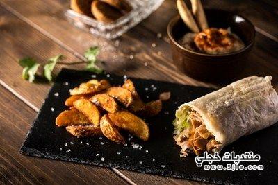 طريقة صينية البطاطا والشاورما