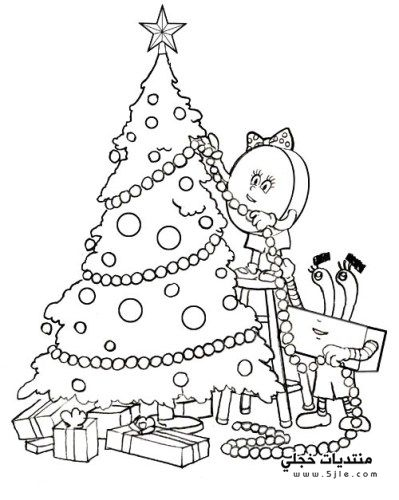 شجرة الكريسماس للتلوين